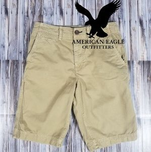 American Eagle Mens Khaki Shorts 28W Tan